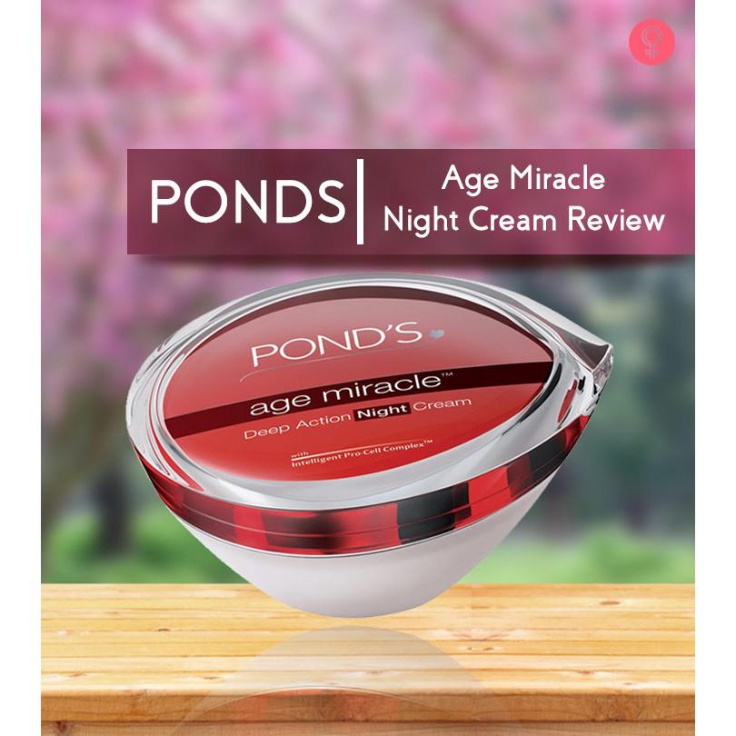 Pond's age miracle Deep Action Night Cream 50ml. ครีมทากลางคืน ของแท้ล