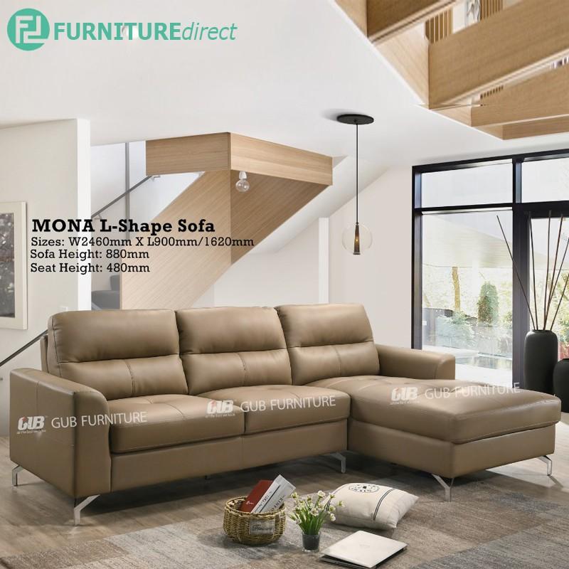 Furniture Direct MONA L shaped PU sofa-brown