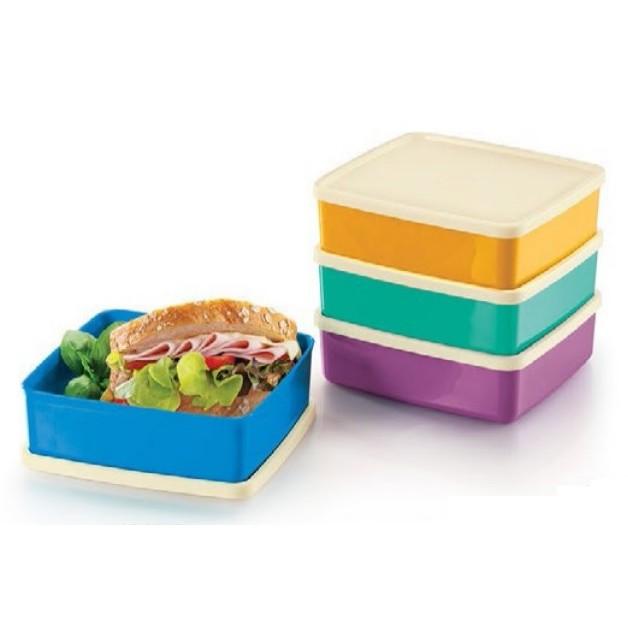 Set Bekal Tupperware Large square-A-Way(4) 620ml