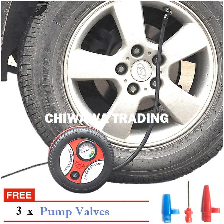 Heavy Duty Electric Auto Car Air Compressor Pump Tyre Inflator DC 12V 260 PSI