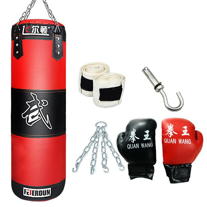 Heavy Bag Canvas Punching Bag Sports Training Empty Boxing MMA Kick Sparring Gym