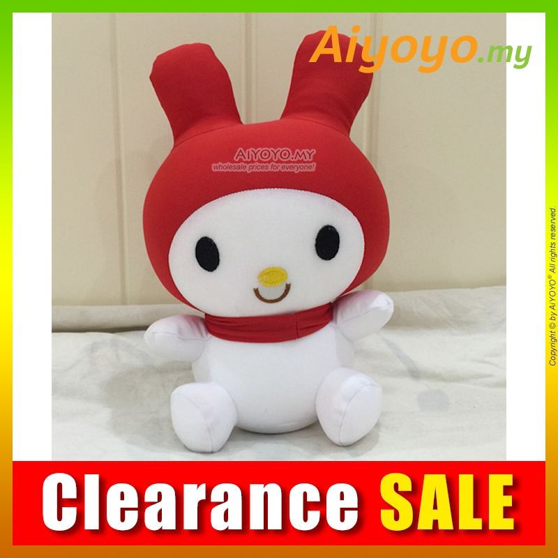 Melody Bean Toy 25CM RED Stuffed Plush Soft Toy Teddy Doll Toys Cushion Pillow