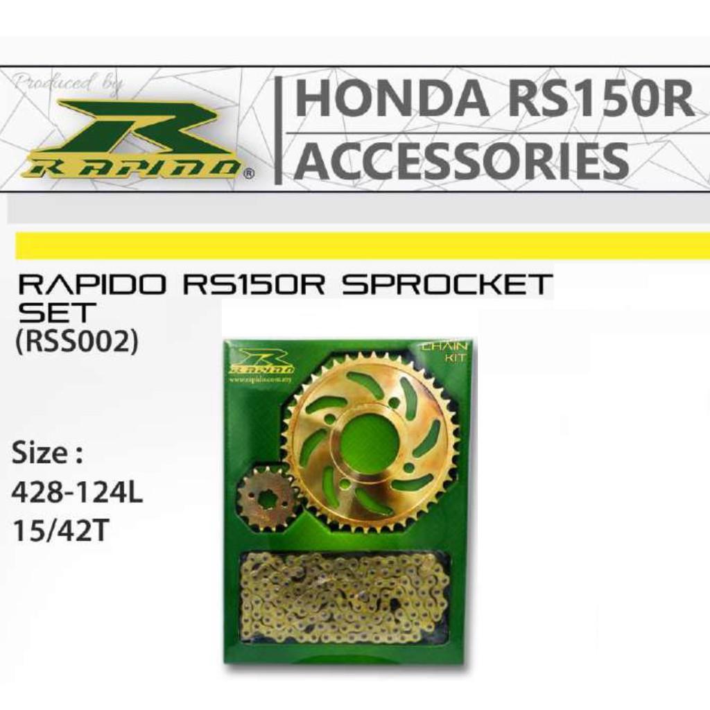Rapido RS150R Sprocket Set 428-124L   Shopee Malaysia