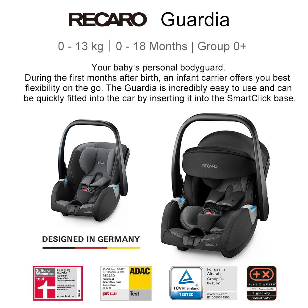 Recaro Privia Evo Group 0 Infant Baby Carrirer Car Seat Birth to 15 Months