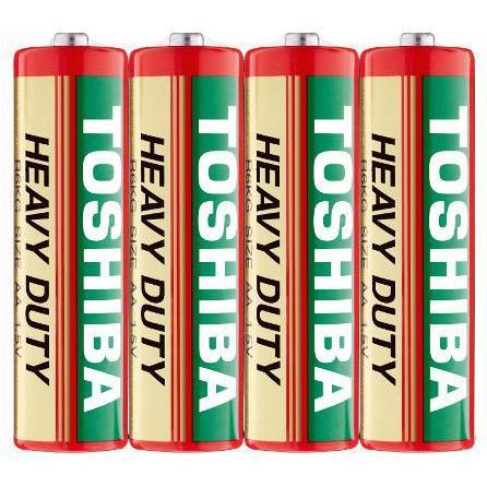 Original Toshiba New carbon Zinc Heavy Duty AA BATTERY  (4pcs/pack)