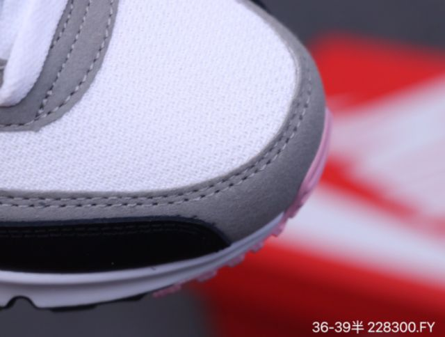 NIKE AIRMAX 90 REAR AIR CUSHION RUNNING SHOES LOW TOP LACE-UP COUPLE CASUAL CUSHIONING SPORTS SHOES PREMIUM 36-39 EURO