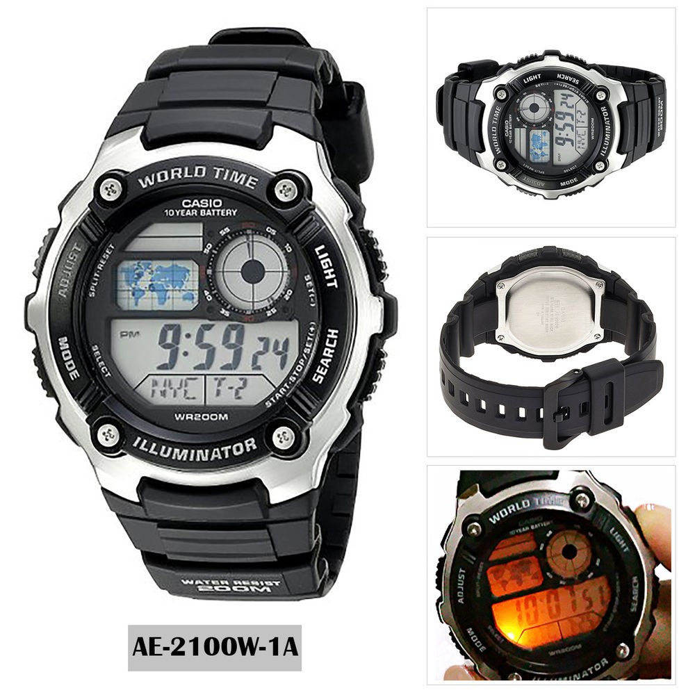 Casio Original Mens Digital Sport Ae 1200wh 1a With Warranty Card Jam Tangan Standard 1bv And Box Shopee Malaysia