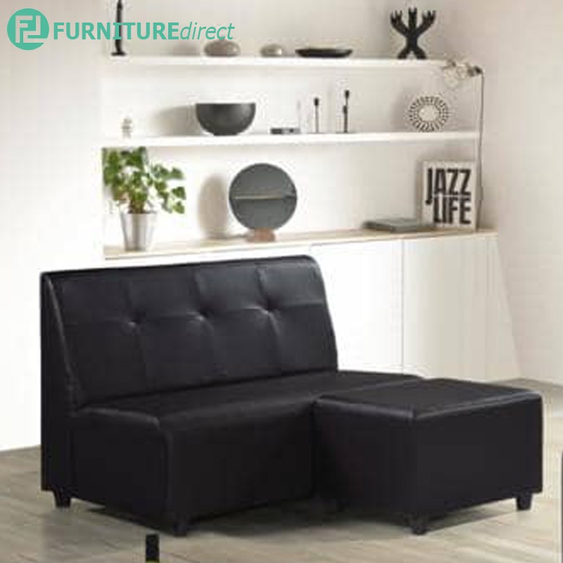 Furniture Direct SF3057 PVC 2 seater sofa with foot stool