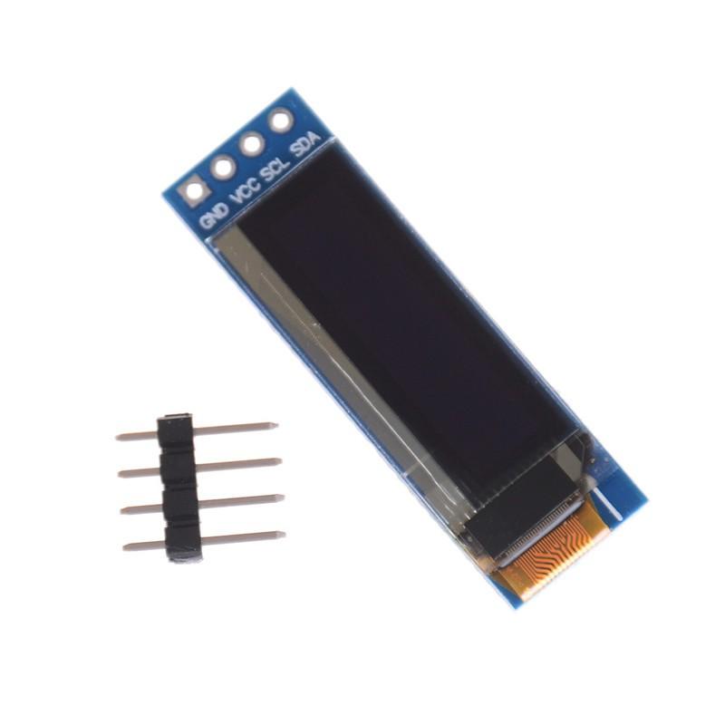 """2x IIC I2C 0.91/"""" 128x32 white OLED LCD Display Module 3.3v 5v For PIC  Arduino"""