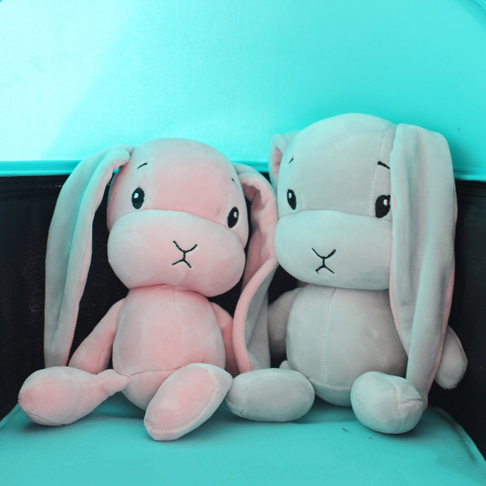 Sweet Cute Stuffed Rabbit Doll Ultra Soft Plush Luky Baby Toys w// 3D Cotton 30cm
