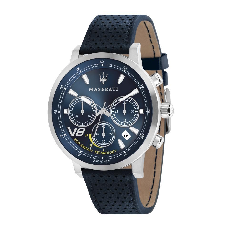 Maserati GT Blue Leather Quartz Chronograph Watches R8871134002