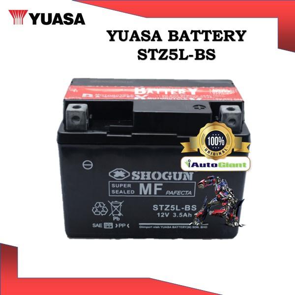 YUASA BATTERY STZ5L-BS SHOGUN BRAND VRLA HONDA WAVE/YAMAHA NOUVO