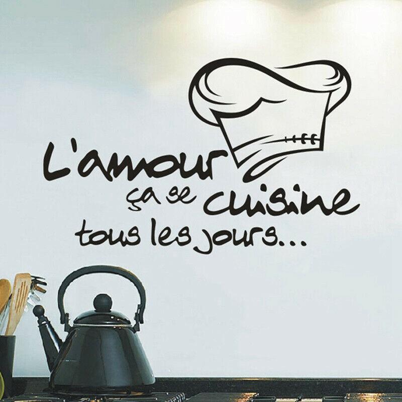 Sticker L Amour Cuisine Les Jours Stickers Francais Deco For