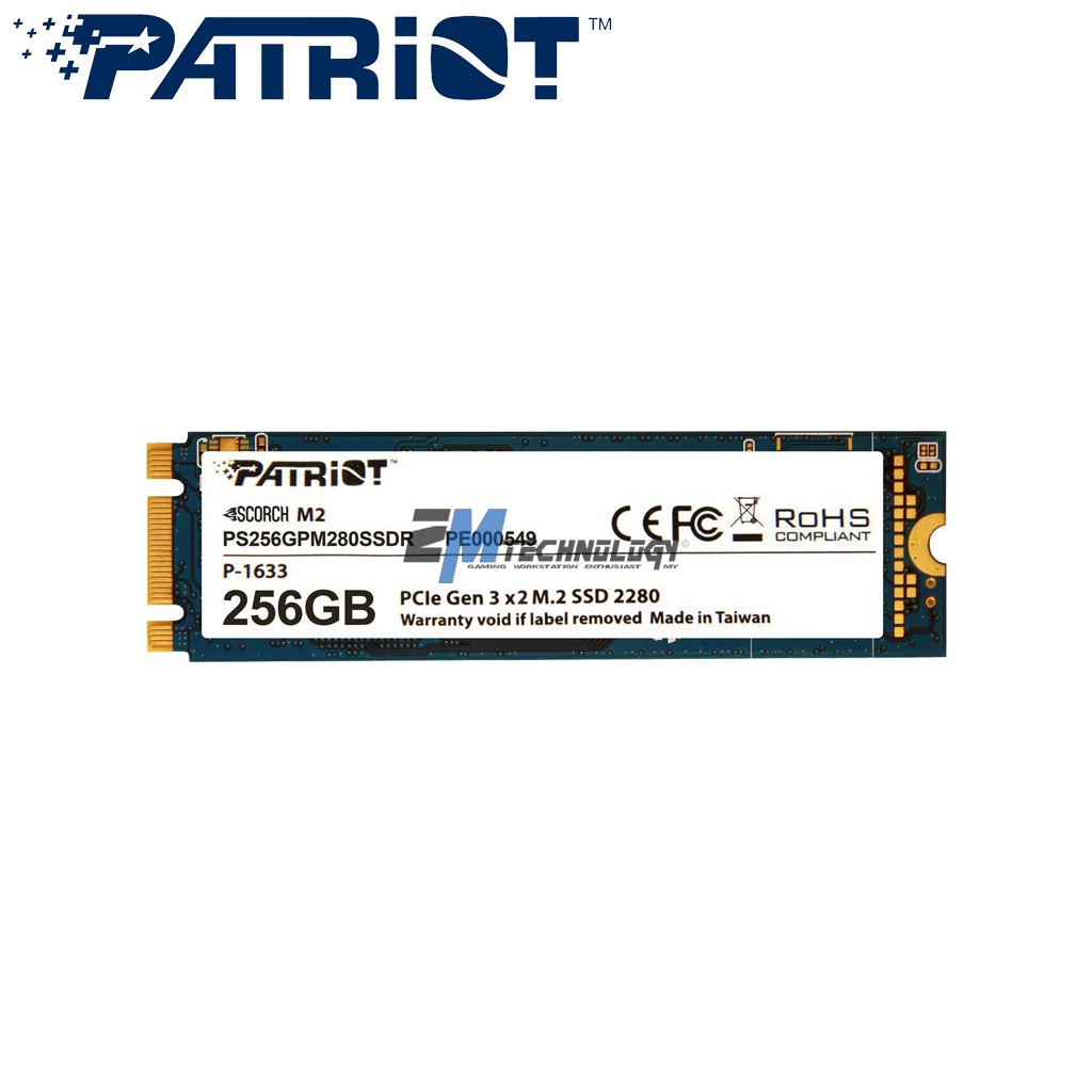 PATRIOT SSD M 2 SATA3 SCORCH 256GB