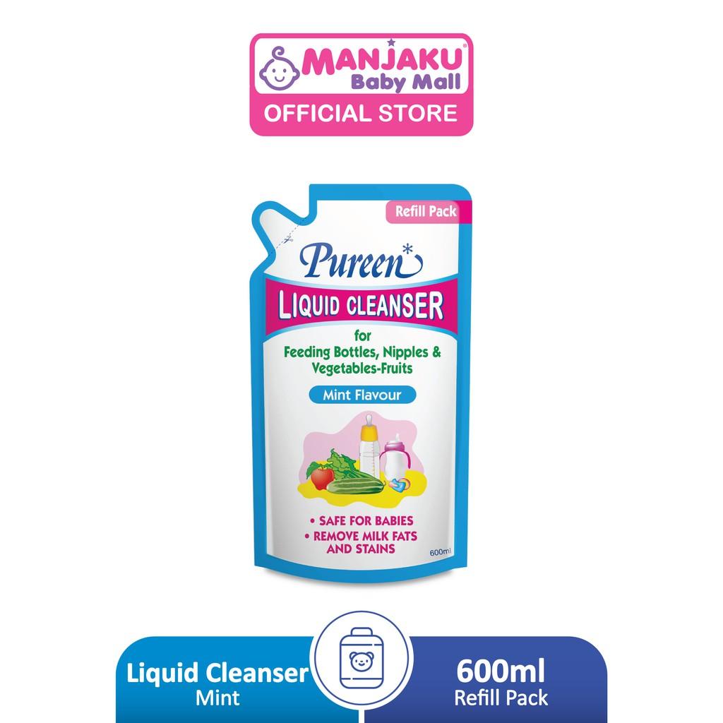 Pureen Liquid Cleanser Refill Pack (600ml) - Mint/Orange/No Flavor