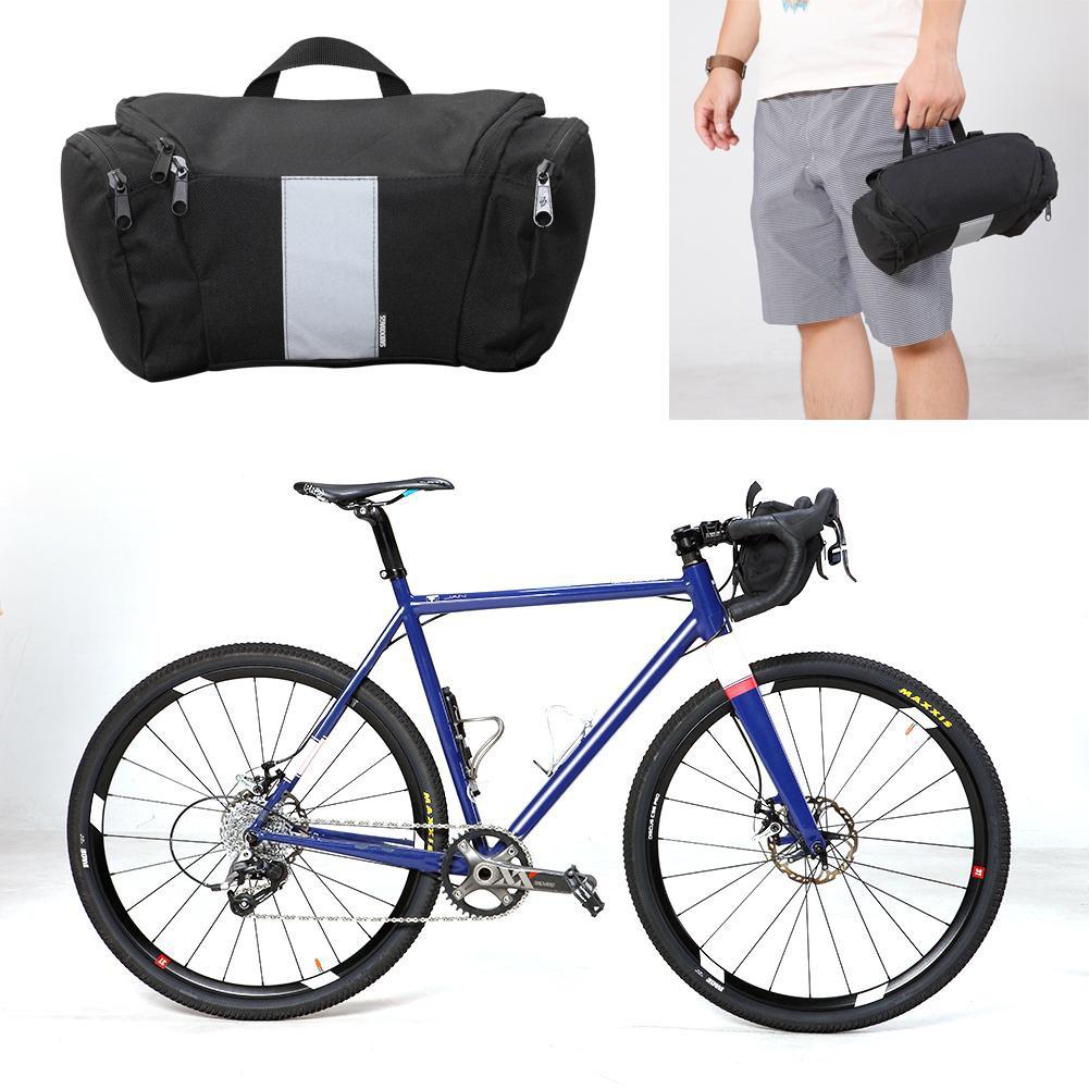 Cycling Bicycle Bike Durable Handlebar Bar Bag Front Basket Pouch Bag Camping