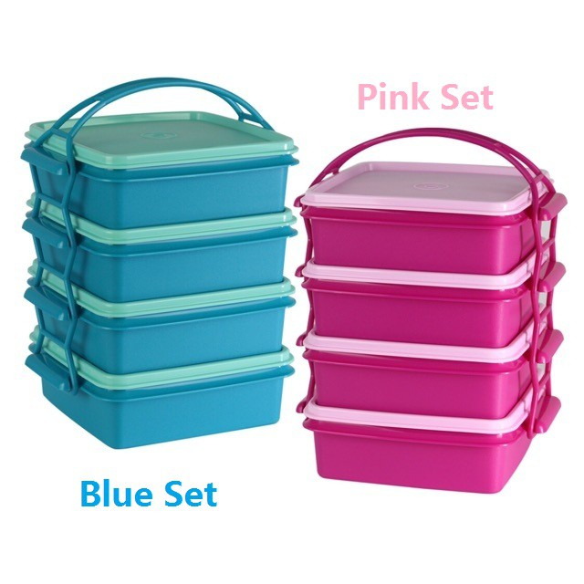 Tupperware Small Goody Box with Cariolier (4) 790 ML