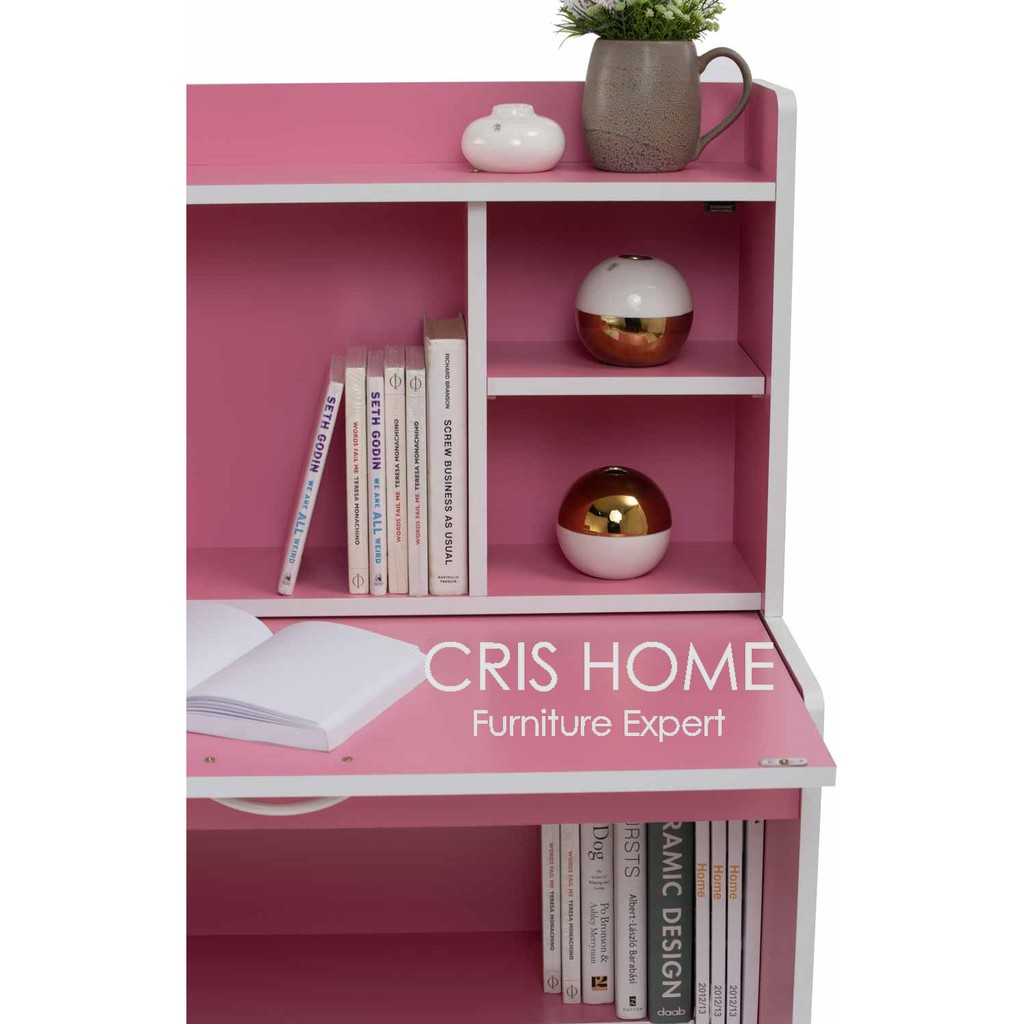 CrisHome - FAYNE Children Study Desk / Writing / Learning Table with 3 Storage Cabinet ( Free Shipping to WM )