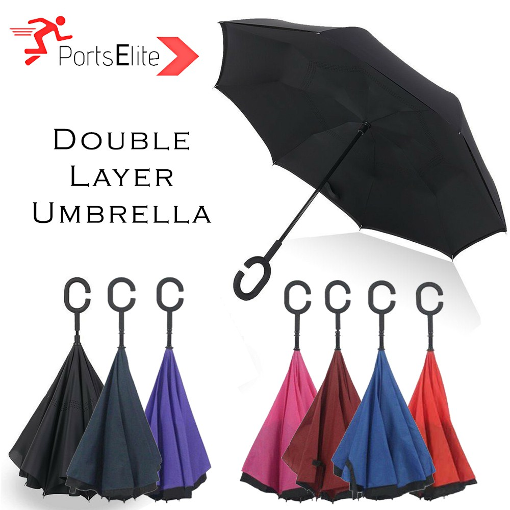 d5f354fb7057 Sports Elite High Quality Double Layer Umbrella With C Handle