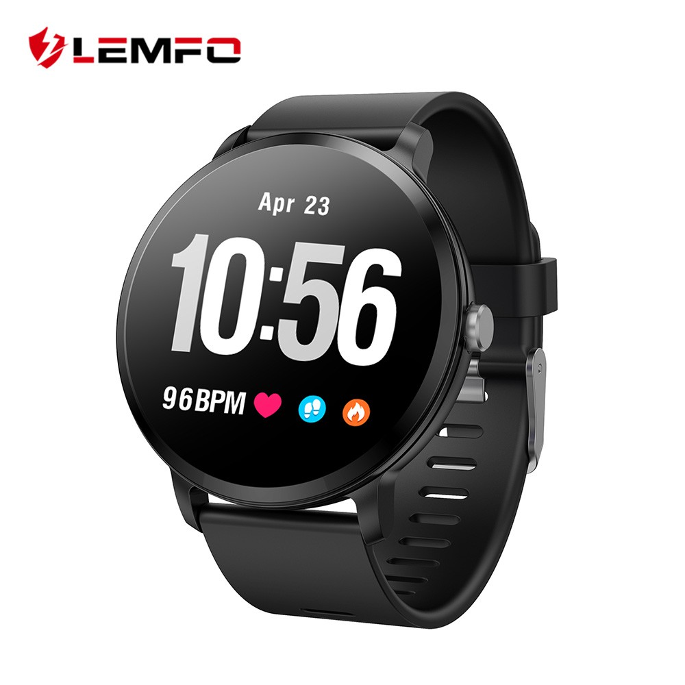 LEMFO V11 1.3 inch smart watch 240 * 240 IP67 waterproof tempered glass screen heart rate monitor