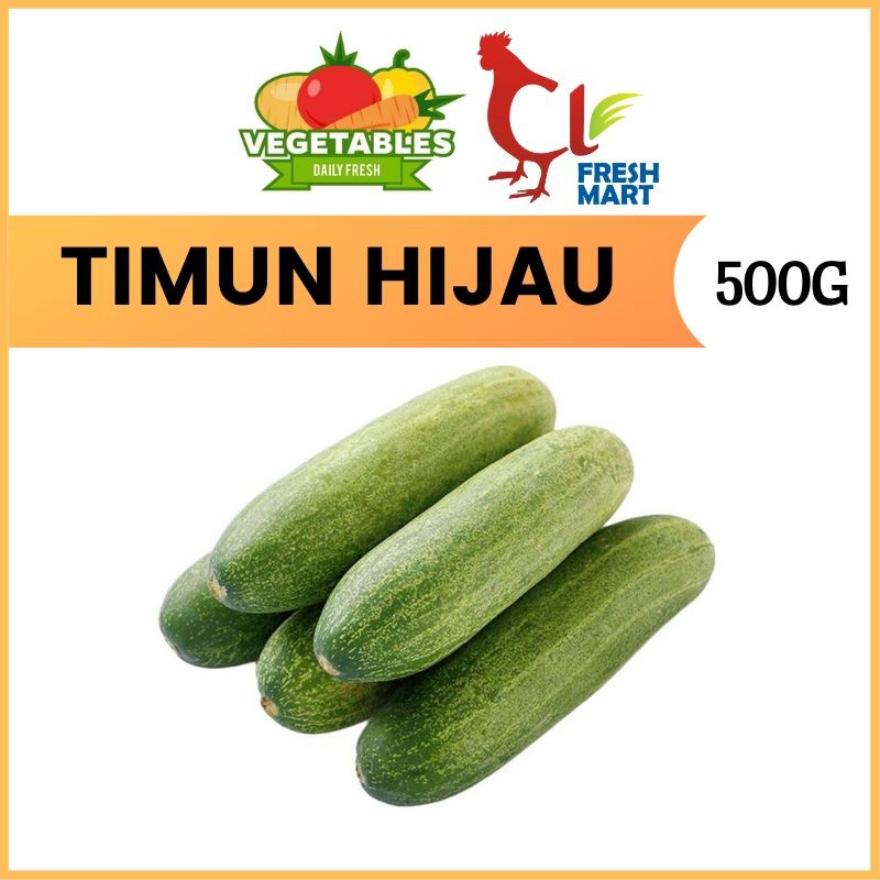 Timun Hijau / Fresh Cucumber (500g per pack) Fresh Selected