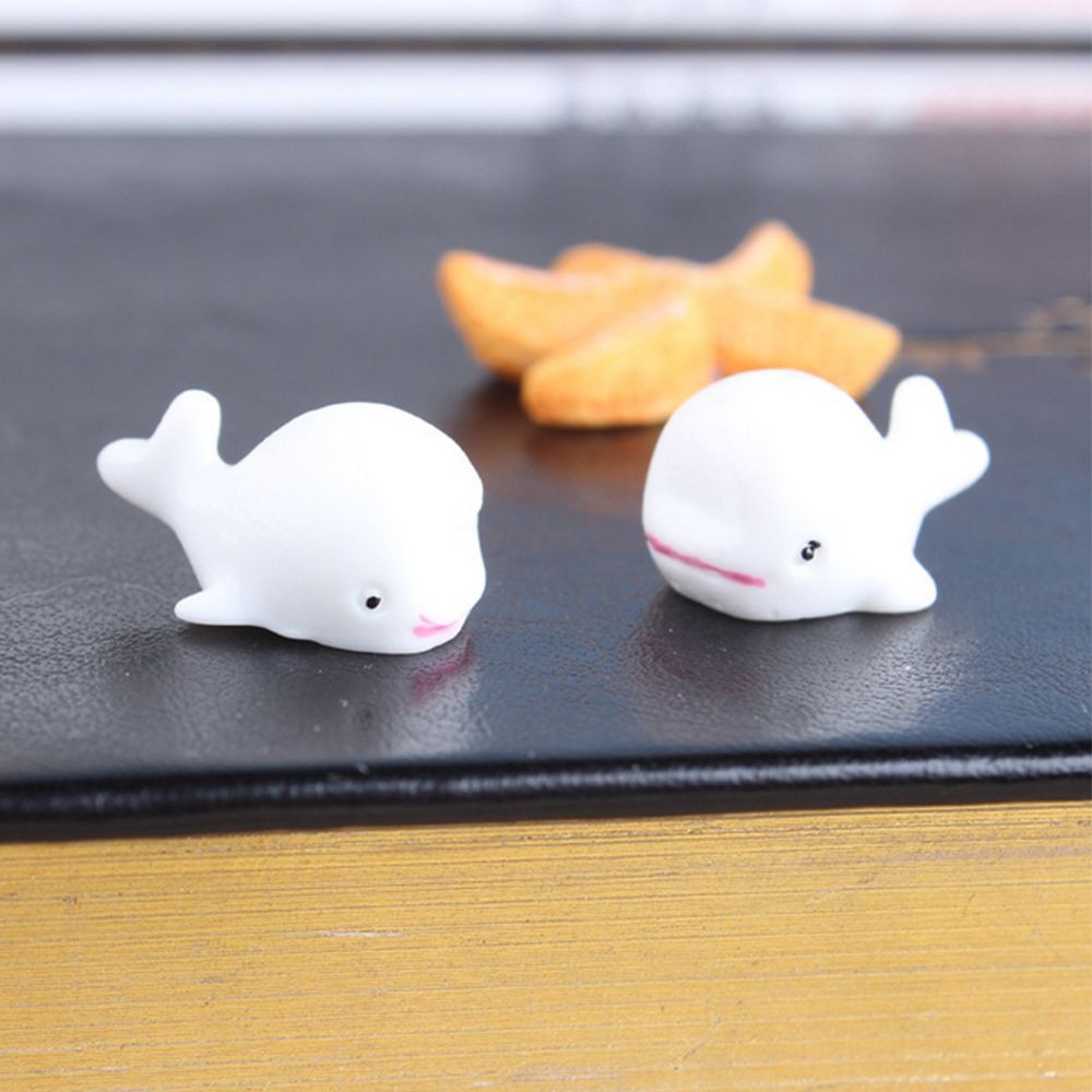 10pcs Creative Miniature Resin Decoration Micro Landscape DIY White Whale