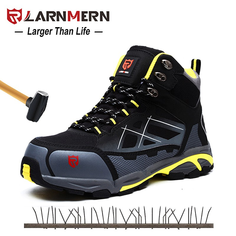 Men's Shoes Bright Larnmern Men Steel Toe Cap Work Safety Shoes Breathable Outdoor Security Footwear For Man Construction Sneaker Puncture Proof