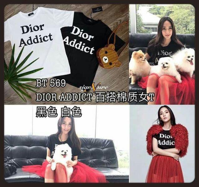 BT569 DIOR ADDICT T-Shirt | Shopee Malaysia