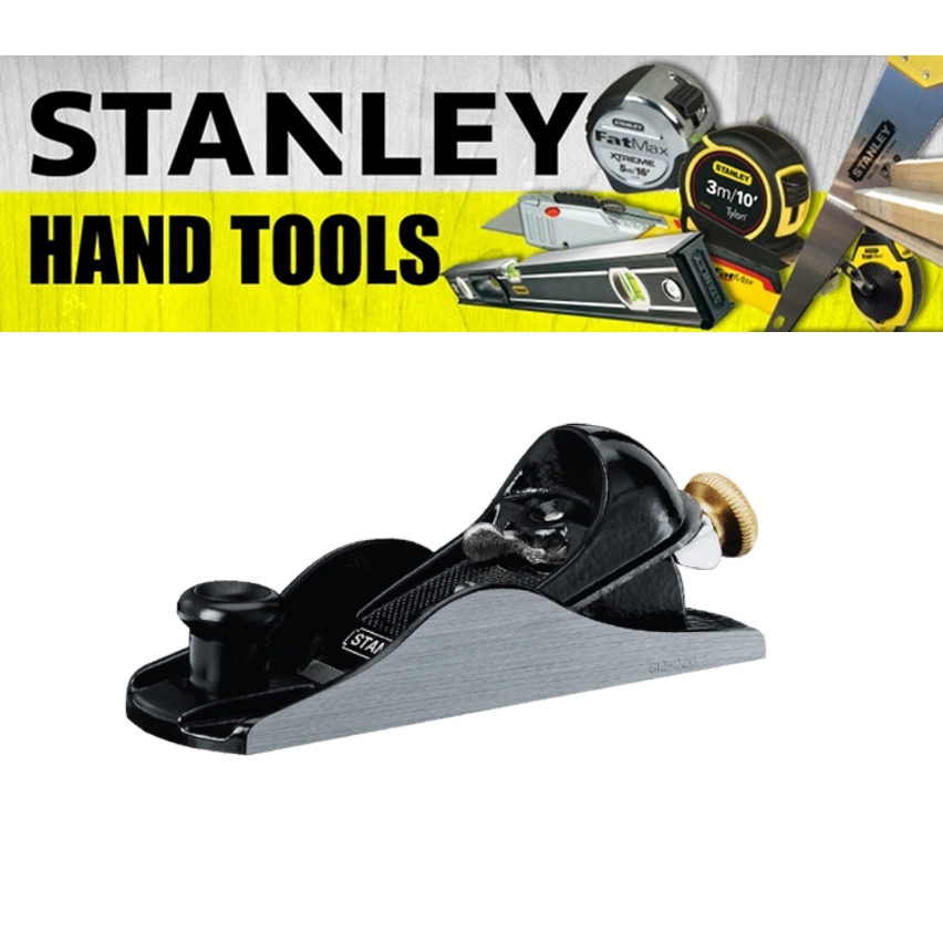STANLEY PROFESSIONAL BLOCK PLANE 12-220-1 PAINTING FINISHING TOOLS 180MM 7'' CUTTER 40MM 1-5/8'' HEAVY DUTY TOOL
