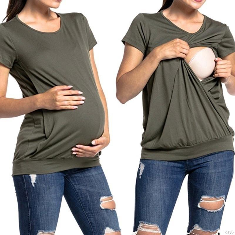 57493db5eed46 ProductImage. Maternity Clothes Nursing Tops Breastfeeding T-Shirts For Pregnant  Women Loose