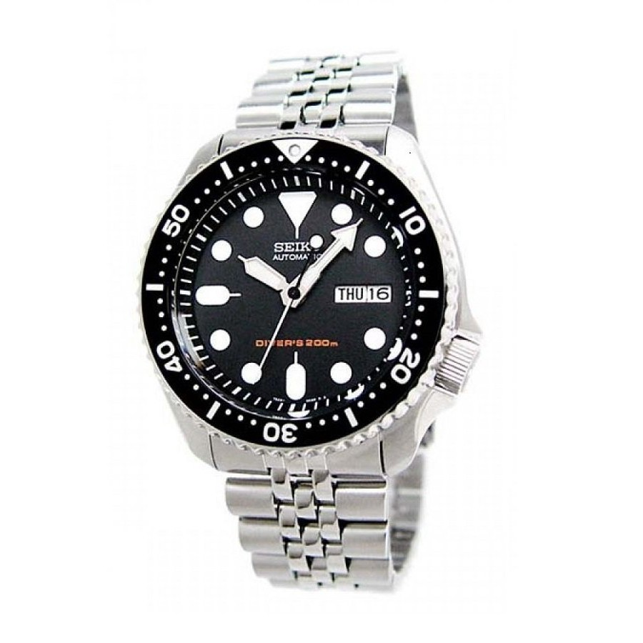 Seiko Sports Skx007k2 Automatic Diver 200m Stainless Steel Watch Divers Black Dial 100 Ori Shopee Malaysia