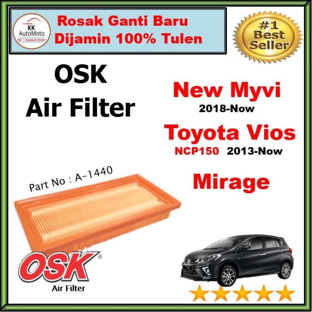 OSK Air Filter - Perodua New Myvi ( 2018 ) / Toyota Vios NCP150 /  Mitsubishi Mirage 1 0 / 1 2 Air Filter ( A-1440 )