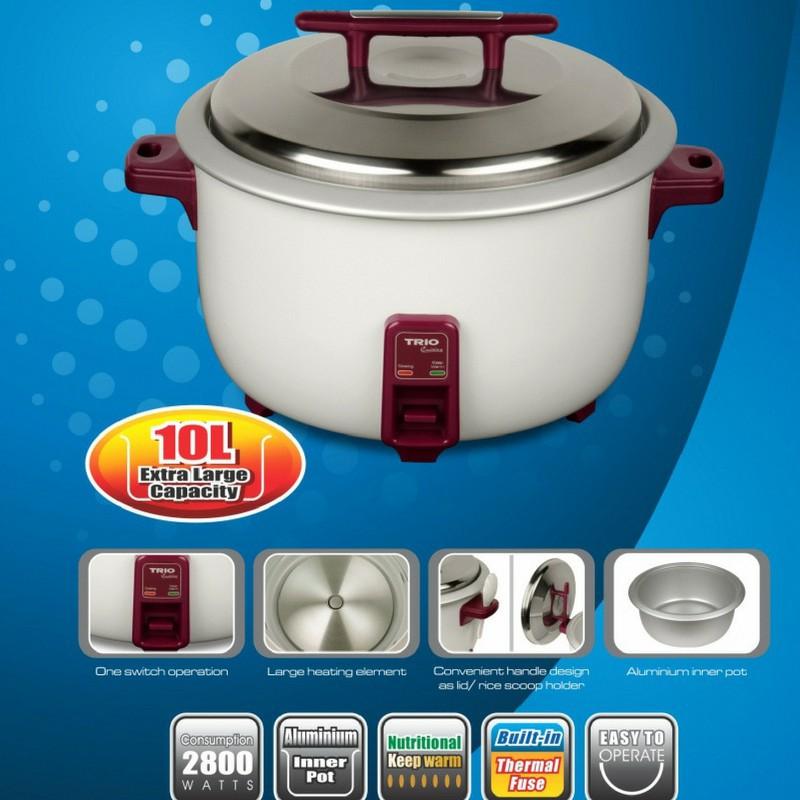 Trio 10L Commercial Rice Cooker TRC-10L