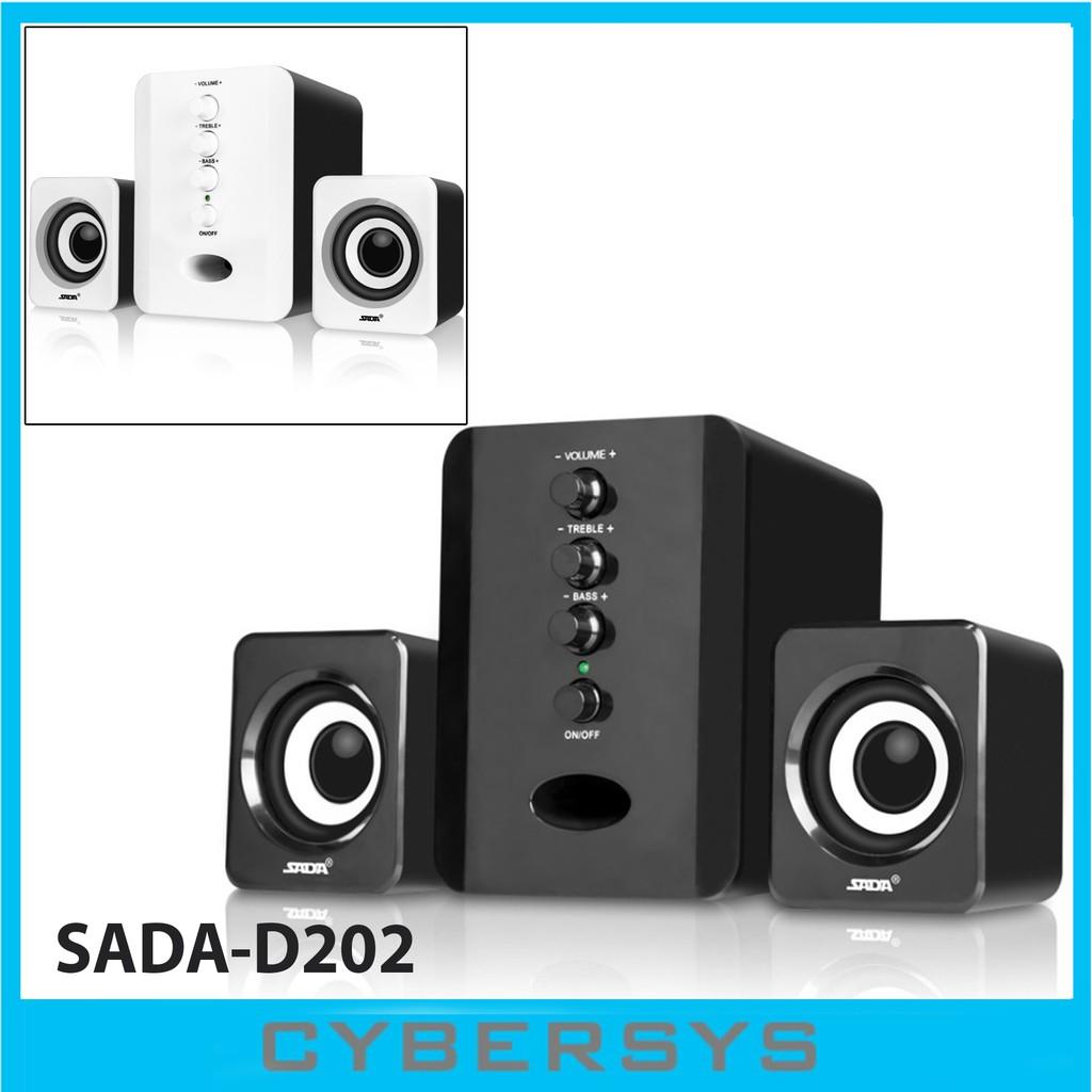 [READY STOCK IN MALAYSIA] SADA D-202 Mini USB 2 1 Wired Combination Speaker  music Bass