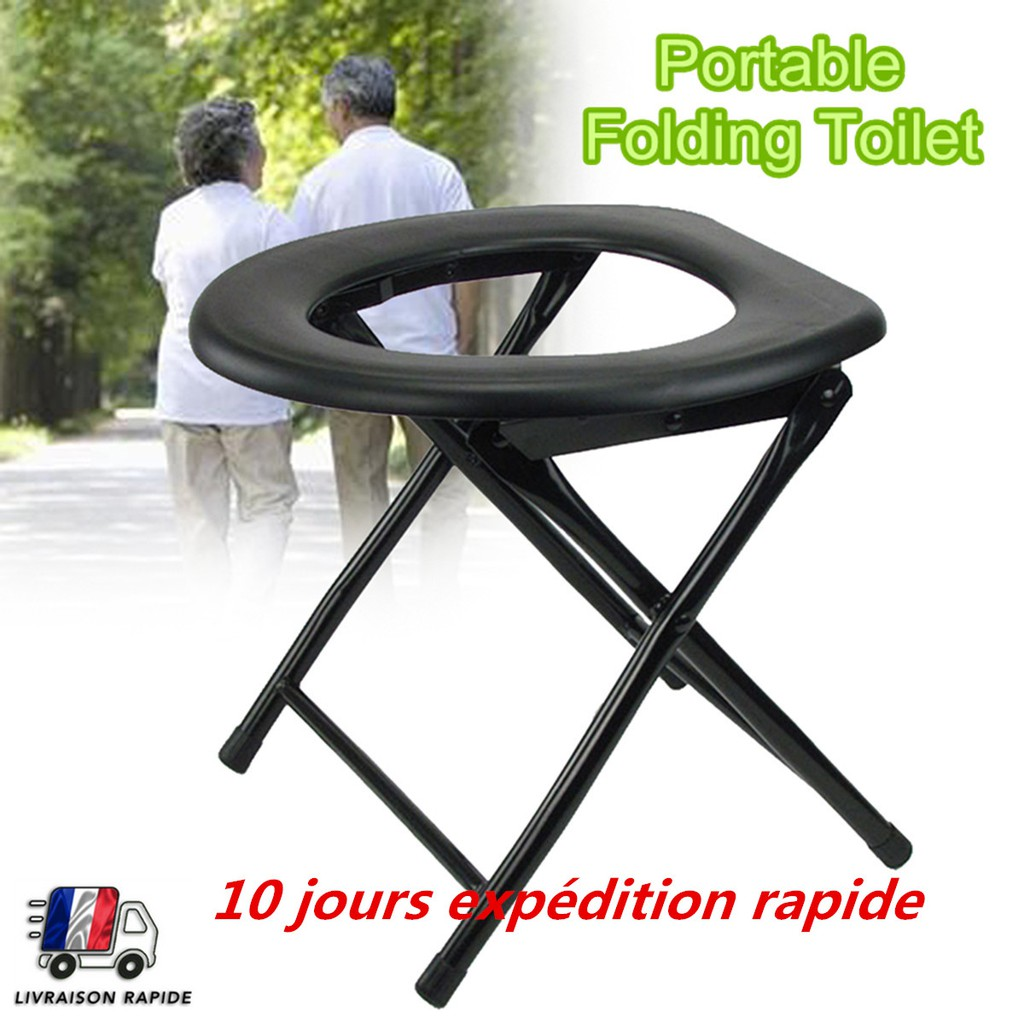 Folding Toilet Portable Chair Camping Travel Festival Park Fishing Outdoors Seat