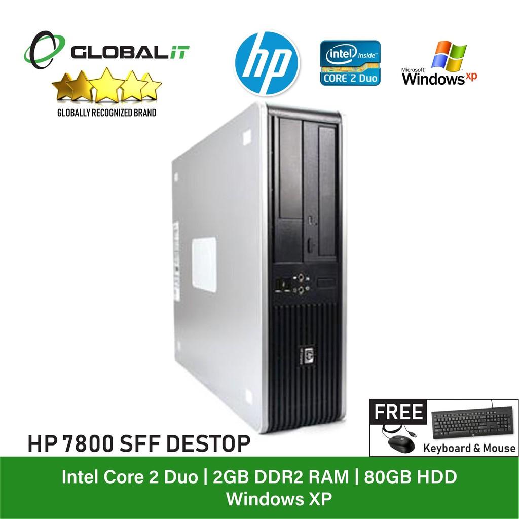 (Refurbished Desktop) HP Compaq 7800 SFF / Intel Core 2 Duo / 80GB HDD /  Win XP