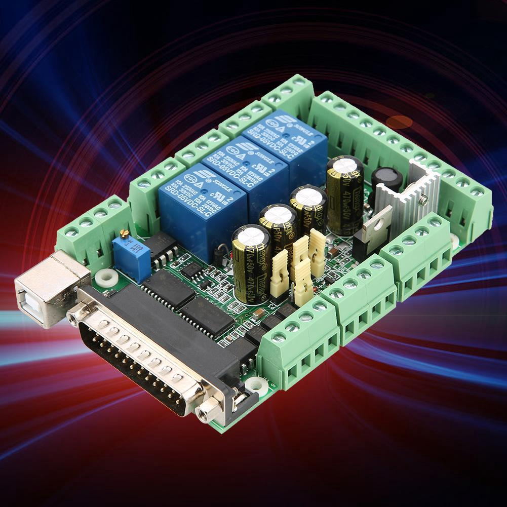 utakeCNC USB MACH3 Breakout Board 5 Axis Interface Driver#Controller