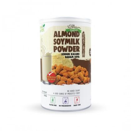 Love Earth Organic Almond Soymilk Powder 500g 乐儿有机巴旦木黄豆粉 500公克 (罐装)