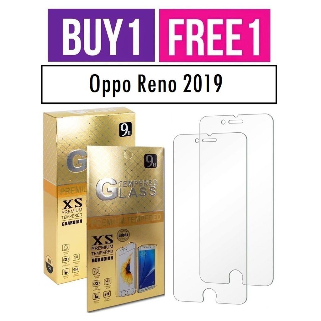 Oppo Reno 2019 Tempered Glass ( Buy 1 Free 1 )