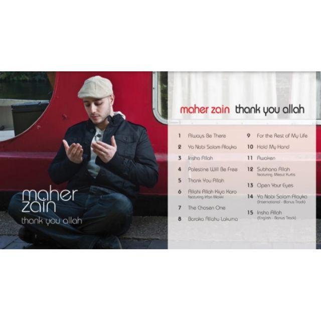 Maher Zain Thank You Allah Music Album Mp3 Download Shopee Malaysia
