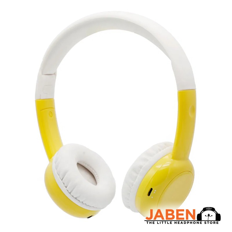 BAMiNi Study Safe Listening Online Class Audio Sharing In-line Mic Kids Closed-Back On-Ear Headphones [Jaben]