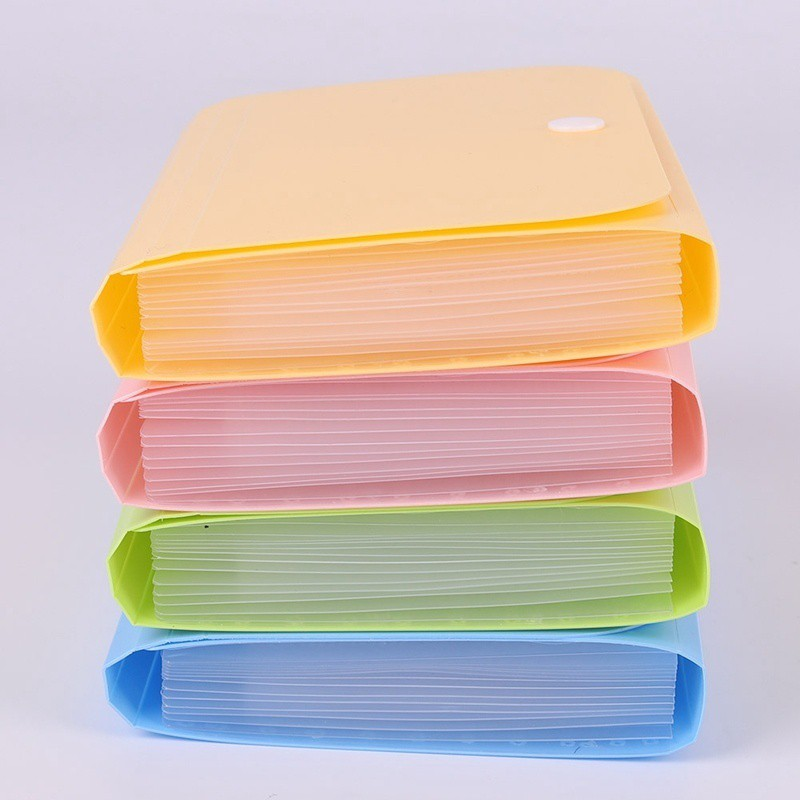 1c6c10904605 Plastic Candy Color A6 File Folder Small Document Bags Expanding Wallet  Bill Folders for Documents