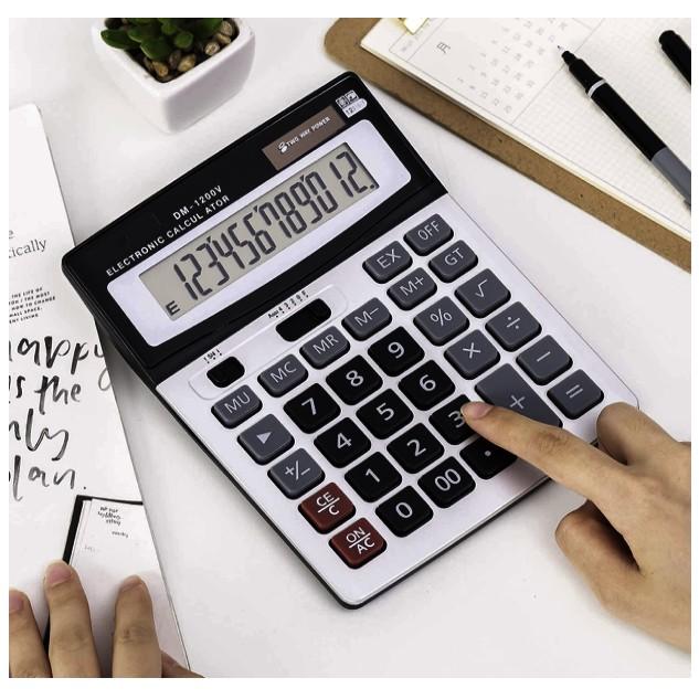 CASIO DM-1200V Standard Calculator Electronics Calculators with Big Button 12 Digit
