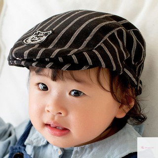 a61488204 Kids Striped Pattern Classic Style Baby Fashion Cap Boy Girl Autumn ...
