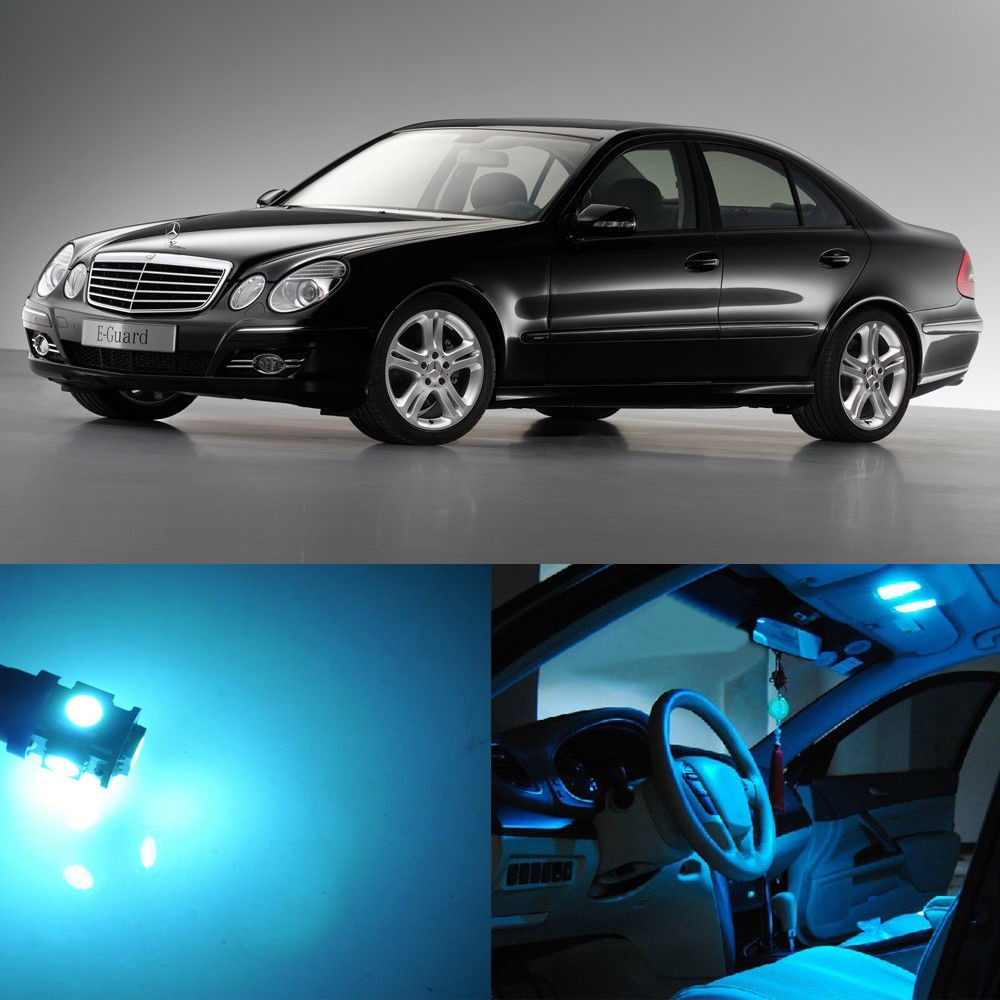 Mercedes C-Class W203 White 4-LED Xenon ICE Side Light Beam Bulbs Pair Upgrade