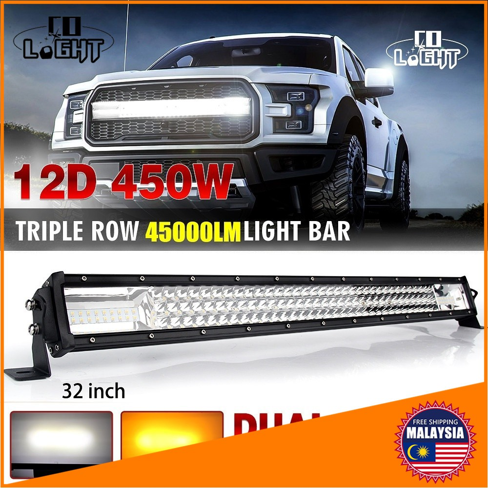 """Straight 20inch 1296W LED Light Bar Fog Combo DUAL ROW Offroad Truck 22/"""""""