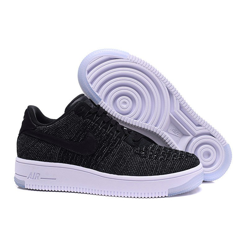 new arrival 7a5ff bf294 Nike Air Force 1 Flyknit Low White Black
