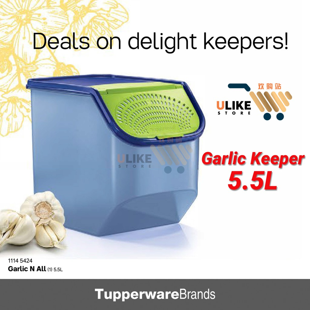 Tupperware Garlic N All / Garlic Keeper / 5.5L