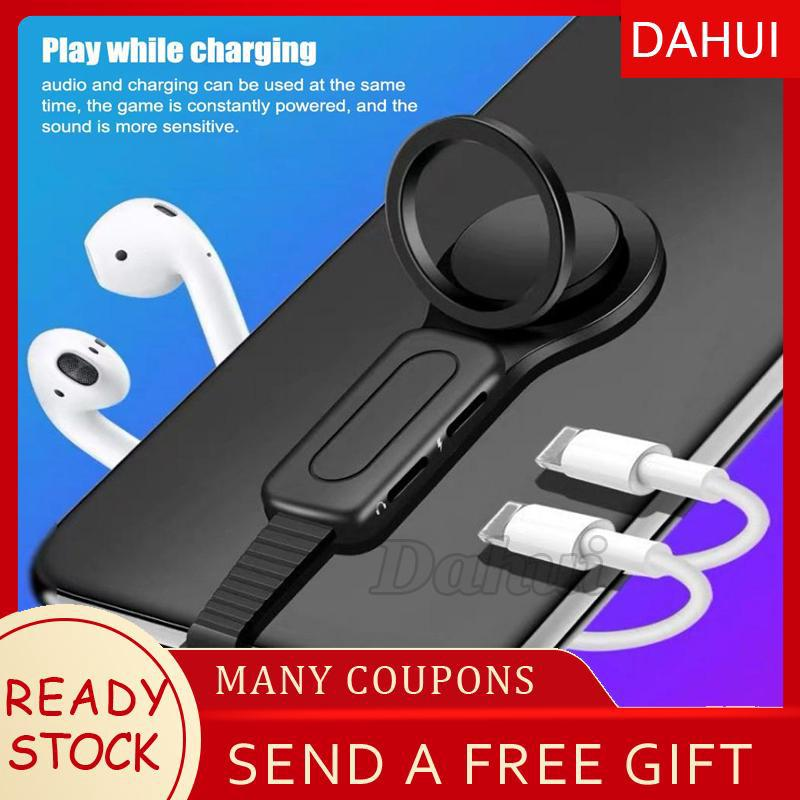 2-in-1 Double Socket Base Headphone Audio Adapter for iPhone 7/7Plus