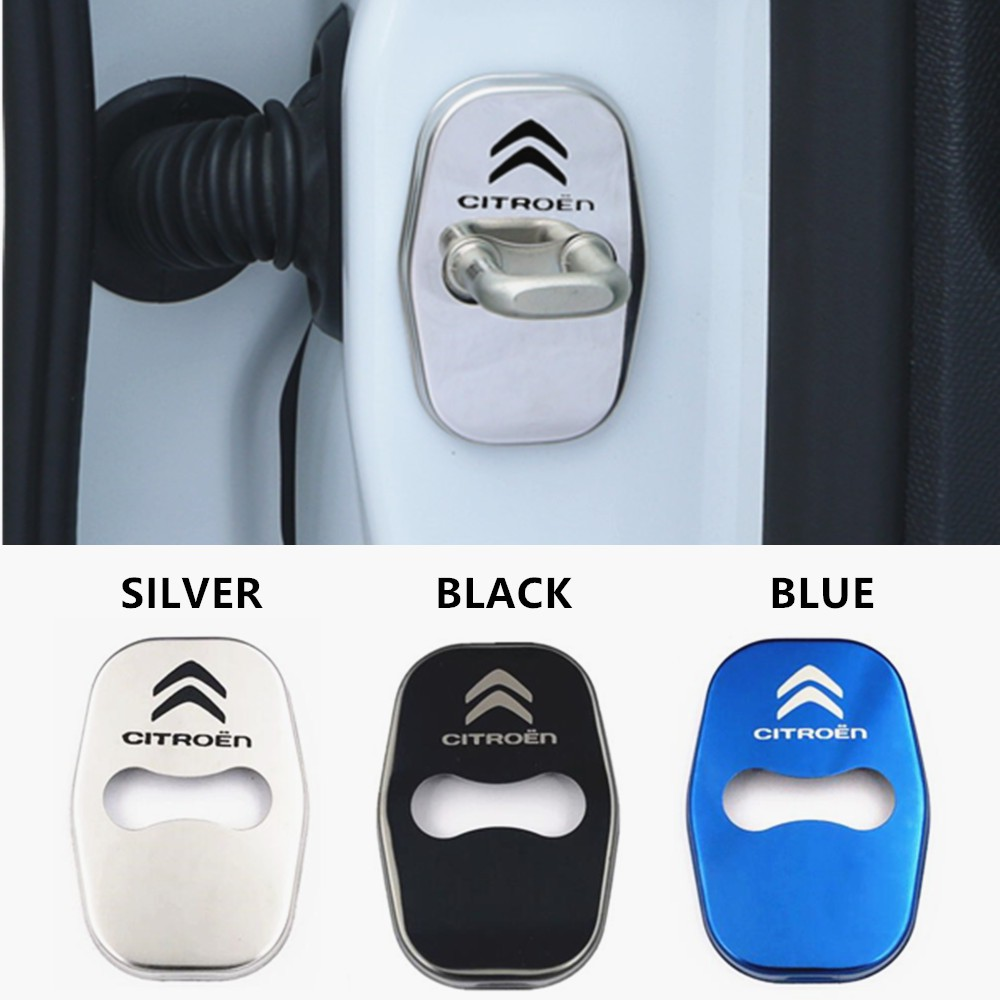 Stainless Steel Car Door lock Protective Cover Decal Sticker For RALLIART Decor